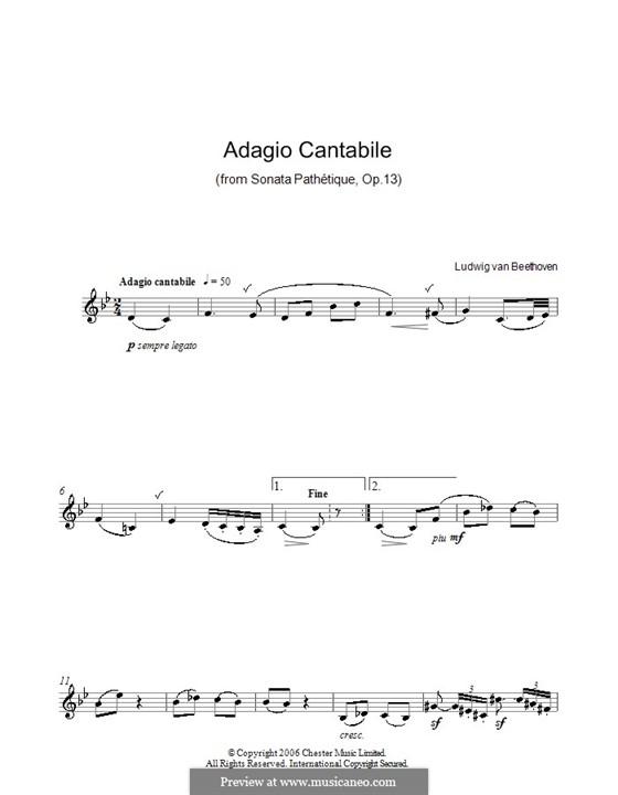 Teil II: Version für Klarinette by Ludwig van Beethoven