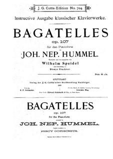 Bagatellen, Op.107: Vollsammlung by Johann Nepomuk Hummel