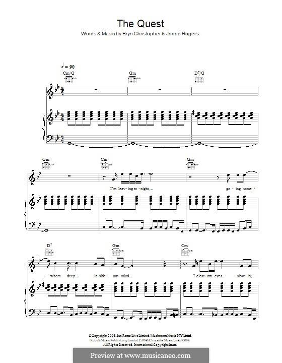 The Quest: Für Stimme und Klavier (oder Gitarre) by Jarrad Rogers