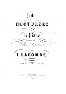 Vier Nokturnes, Op.8: Vier Nokturnes by Louis Lacombe