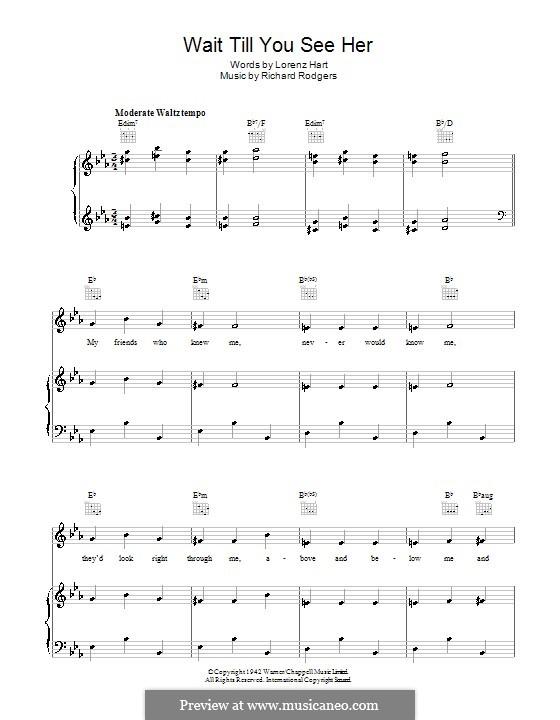 Wait Till You See Her: Für Stimme und Klavier (oder Gitarre) by Richard Rodgers