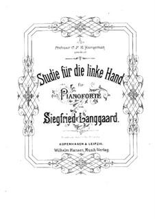 Studie für die linke Hand allein: Für Klavier by Siegfried Langgaard