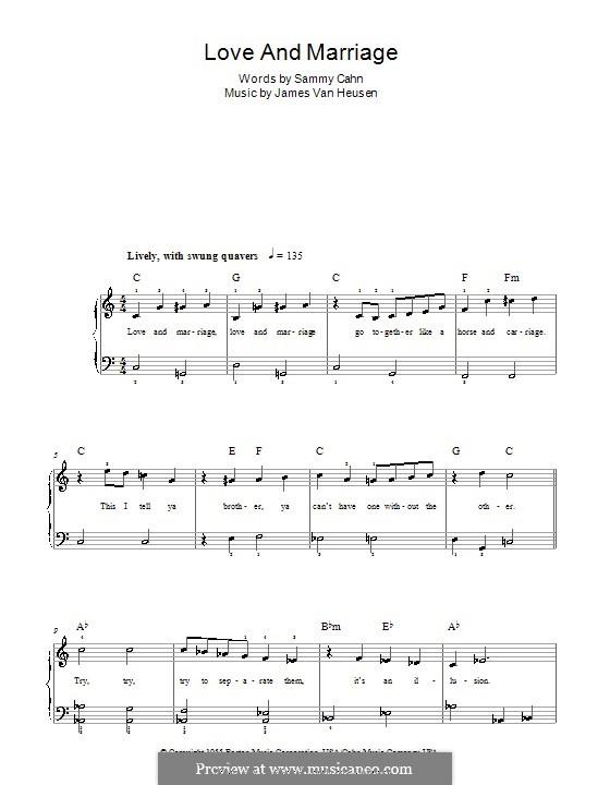 Love and Marriage (Frank Sinatra): Für Klavier, leicht by Jimmy Van Heusen