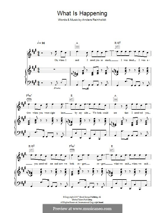 What Is Happening (Alphabeat): Für Stimme und Klavier (oder Gitarre) by Anders Reinholldt