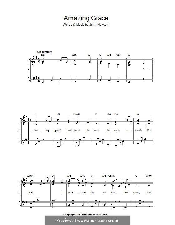 Amazing Grace (Printable Scores): Für Stimme und Klavier by folklore