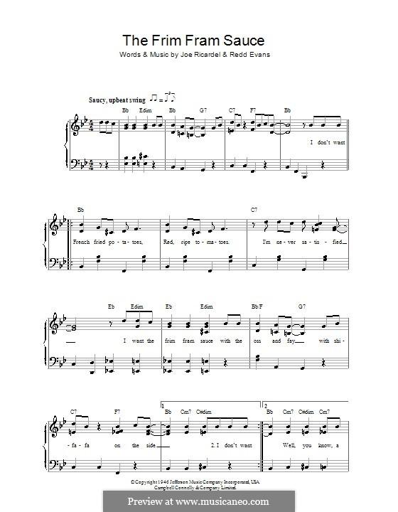 The Frim Fram Sauce: Für Stimme und Klavier (Ella  Fitzgerald) by Joe Ricardel