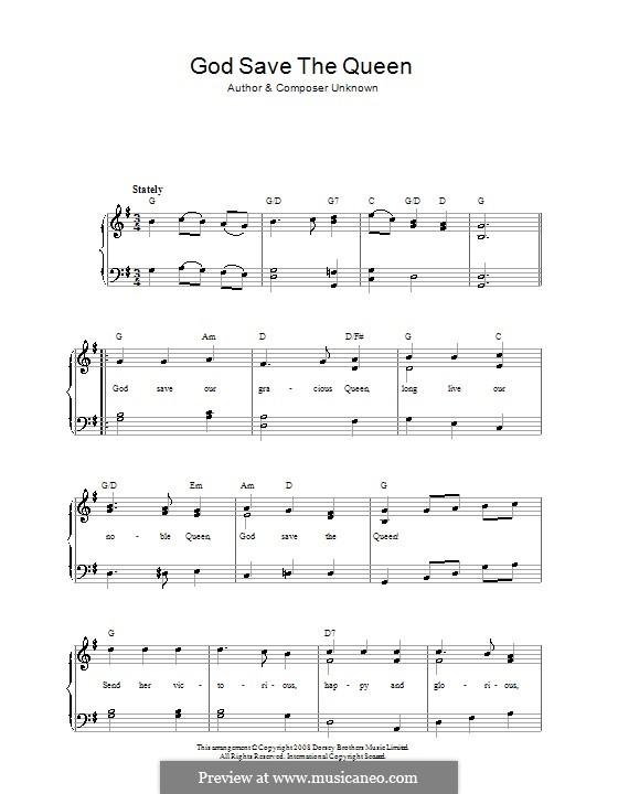 Gott schütze den Königin: Für Stimme und Klavier by folklore