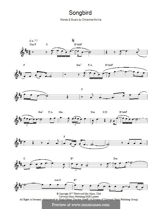 Songbird (Fleetwood Mac): Für Saxophon by Christine McVie