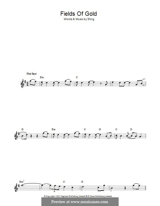 Fields of Gold: Für Flöte by Sting