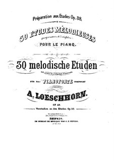 Dreissig Melodische Etüden: Heft II, Nr.11-20 by Karl Albert Löschhorn
