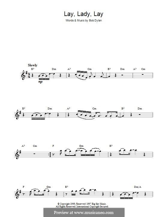 Lay Lady Lay: Für Saxophon by Bob Dylan