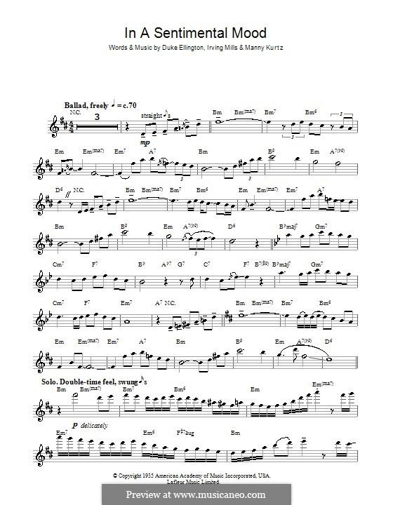 In a Sentimental Mood: Für Flöte by Irving Mills, Duke Ellington, Manny Kurtz