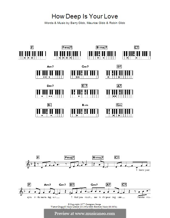 How Deep Is Your Love (The Bee Gees): Für Keyboard by Barry Gibb, Maurice Gibb, Robin Gibb