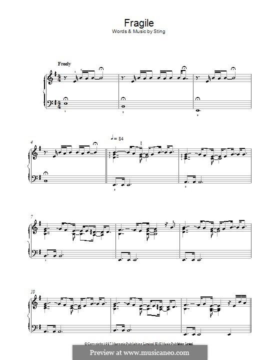 Fragile: Für Klavier by Sting