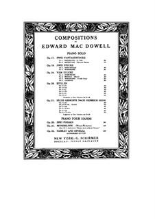 Drei Poeme für Klavier, vierhändig, Op.20: Drei Poeme für Klavier, vierhändig by Edward MacDowell