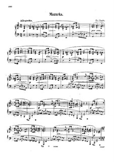 Mazurka in a-Moll, B.134 KK IIb/4: Für Klavier by Frédéric Chopin