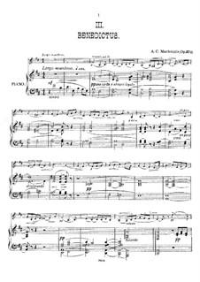 Benedictus, Op.37 No.3: Benedictus by Alexander Mackenzie