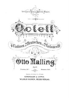 Streichoktett, Op.50: Vollpartitur, Stimmen by Otto Malling