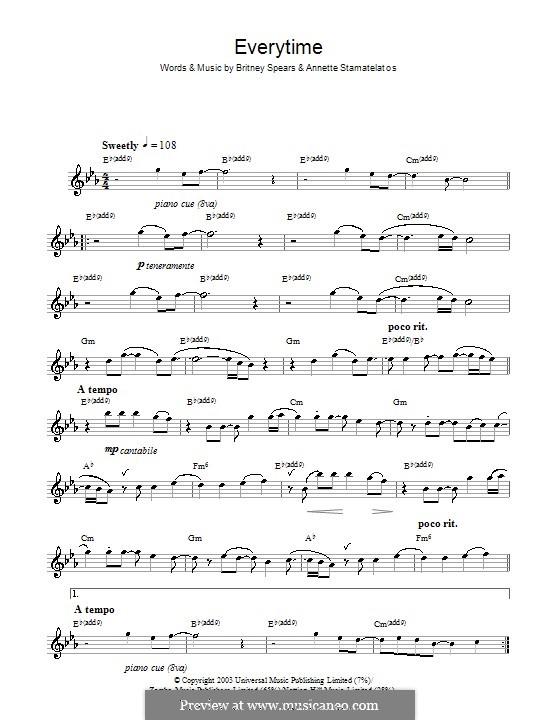 Everytime: Für Flöte by Annette Stamatelatos, Britney Spears