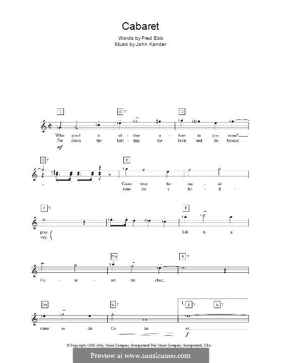 Cabaret (Liza Minnelli): Für Keyboard by John Kander