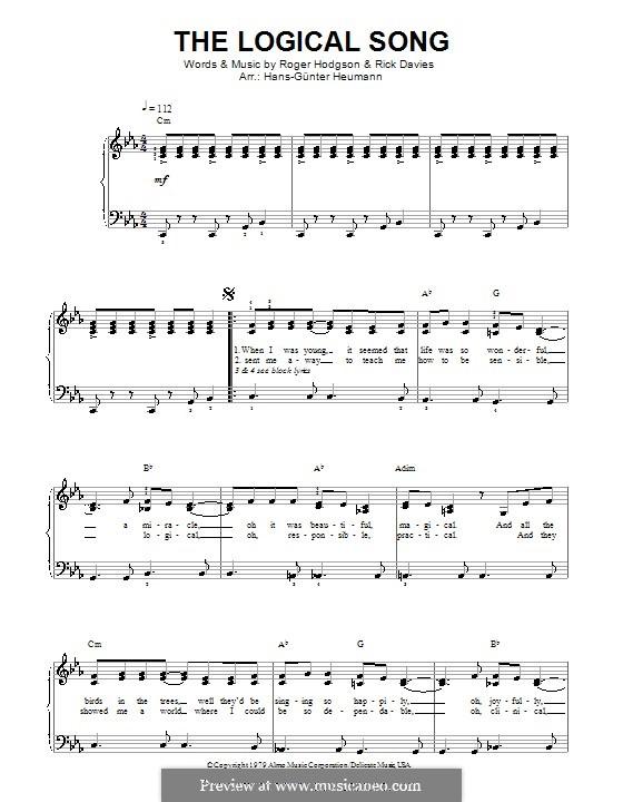 The Logical Song (Supertramp): Klavierauszug mit Singstimmen by Rick Davies, Roger Hodgson