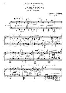 Variationen in c-Moll, Op.42: Variationen in c-Moll by Gabriel Pierné