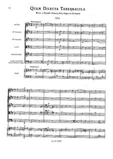 Quam Dilecta Tabernacula: Quam Dilecta Tabernacula by Jean-Philippe Rameau