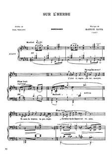 Sur l'herbe, M.53: Sur l'herbe by Maurice Ravel
