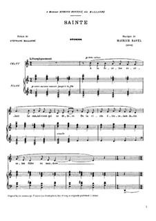 Sainte, M.9: Sainte by Maurice Ravel