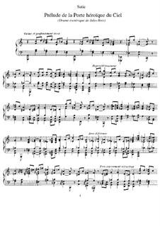Prélude de la Porte Héroïque du Ciel: Für Klavier by Erik Satie