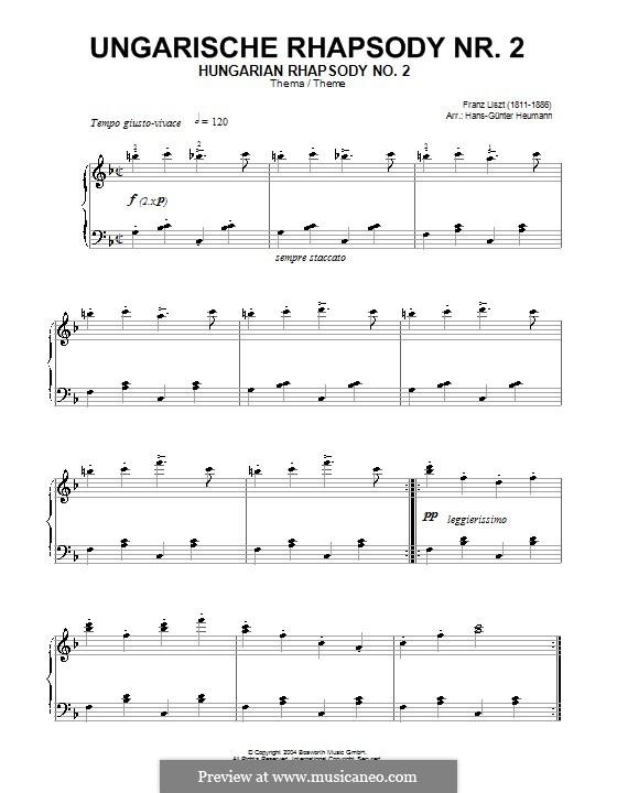 Nr.2 in cis-Moll, S.244: Friska. Theme by Franz Liszt