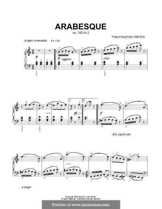 Nr.2 Arabeske: For piano. Version by Hans-Günter Heumann by Johann Friedrich Burgmüller