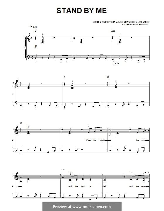 Stand By Me: Für Stimme und Klavier by Ben E. King, Jerry Leiber, Mike Stoller