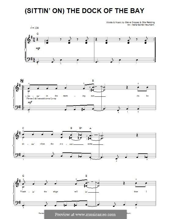 (Sittin' On) The Dock of the Bay: Für Stimme und Klavier by Otis Redding, Steve Cropper
