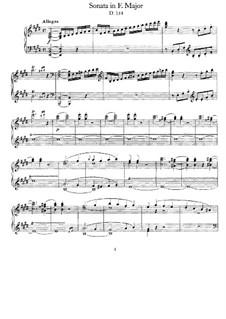 Sonate für Klavier in E-Dur, D.154: Allegro by Franz Schubert