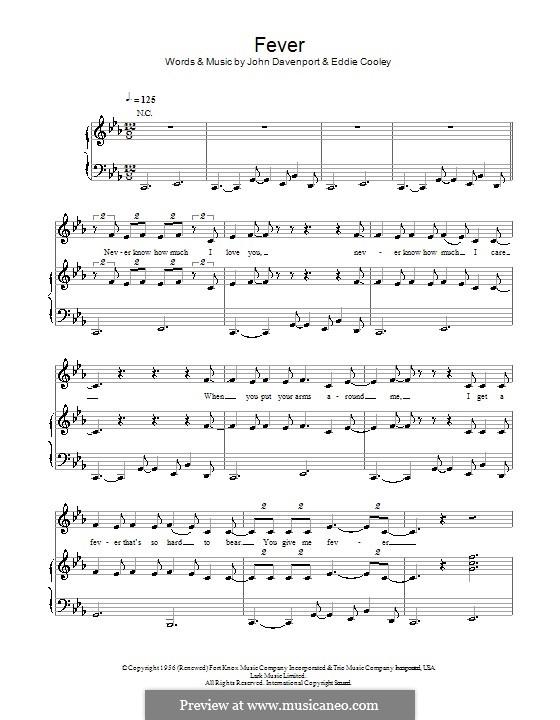 Fever: Für Stimme und Klavier oder Gitarre (Michael Buble) by Eddie Cooley, John Davenport