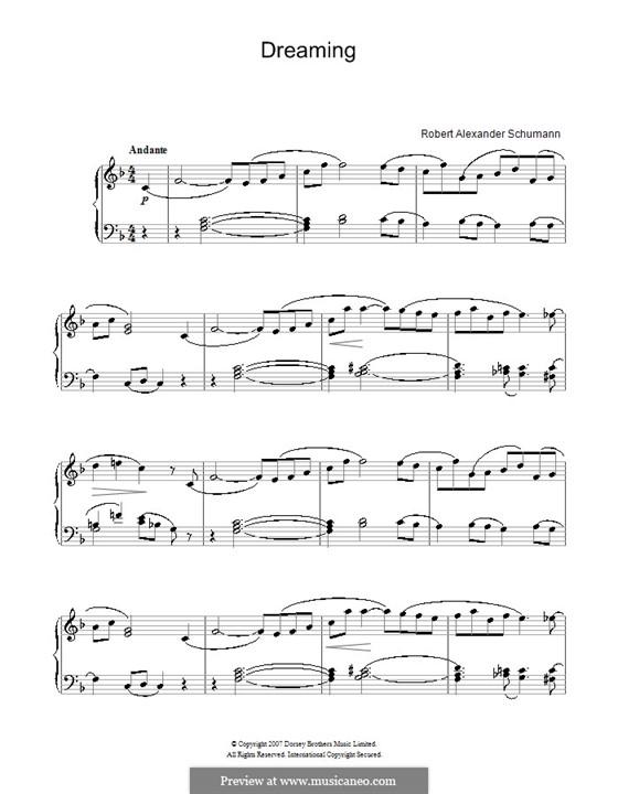 Nr.7 Träumerei, für Klavier: Easy version by Robert Schumann