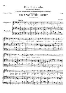 Die Betende, D.102: H-Dur by Franz Schubert