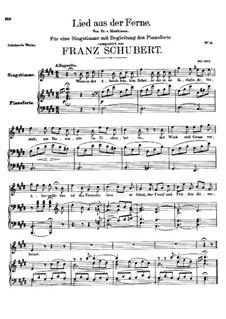 Lied aus der Ferne, D.107: E-Dur by Franz Schubert