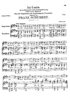 An Laura, D.115: E-Dur by Franz Schubert