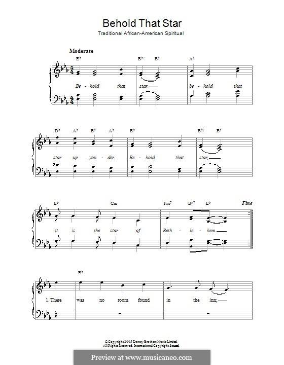 Behold That Star: Für Stimme und Klavier by folklore