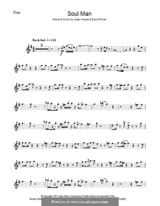 Soul Man (Sam & Dave): Für Flöte by David Porter, Isaac Hayes
