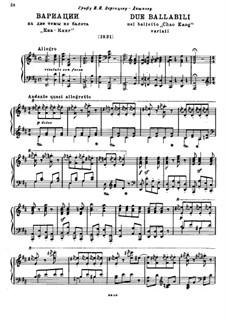 """Variationen über zwei Themen aus dem Ballett """"Chao Kang"""": Variationen über zwei Themen aus dem Ballett """"Chao Kang"""" by Michail Glinka"""