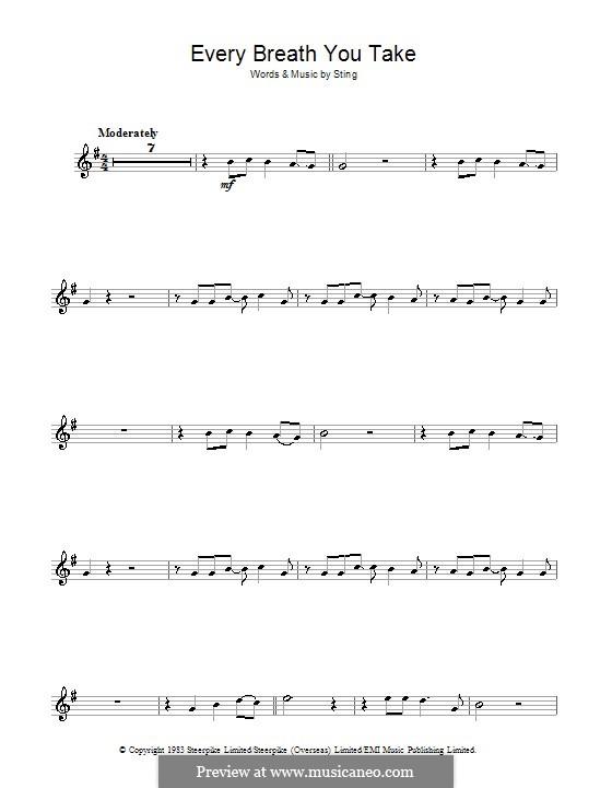 Every Breath You Take (The Police): Für Violine by Sting