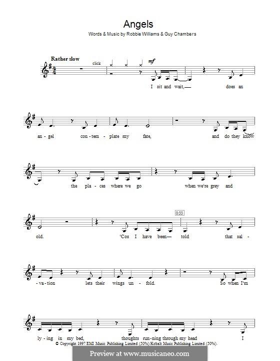 Angels: Für Klarinette by Guy Chambers, Robbie Williams