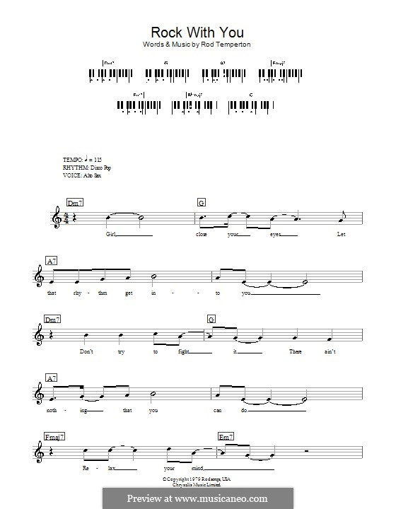Rock with You (Michael Jackson): Für Keyboard by Rod Temperton