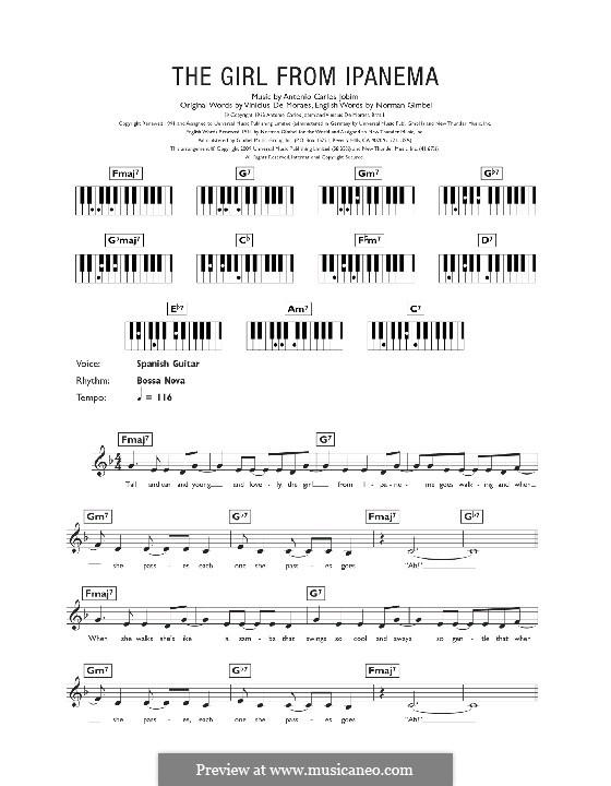 The Girl from Ipanema (Garota de Ipanema): Für Keyboard by Antonio Carlos Jobim