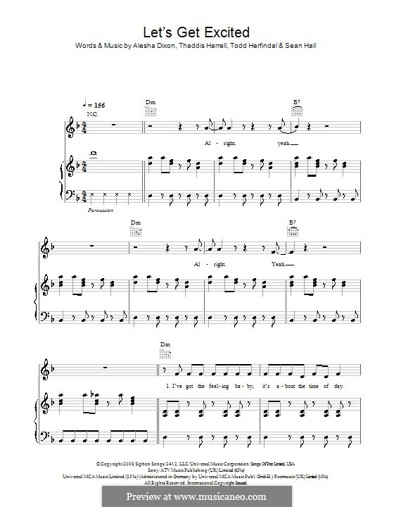 Let's Get Excited: Für Stimme und Klavier (oder Gitarre) by Sean Hall, Kuk Harrell, Todd Herfindal