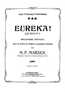 Eureka, Op.34: Eureka by Martin Pierre Marsick