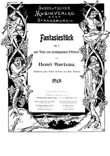 Fantasie für Violine und Klavier, Op.3: Fantasie für Violine und Klavier by Henri Marteau